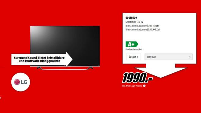 LG 60UF8509 ©Media Markt