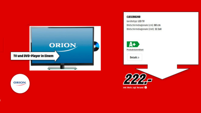 Orion CLB32B820D © Media Markt