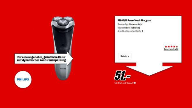 Philips PT860/16 PowerTouch ©Media Markt