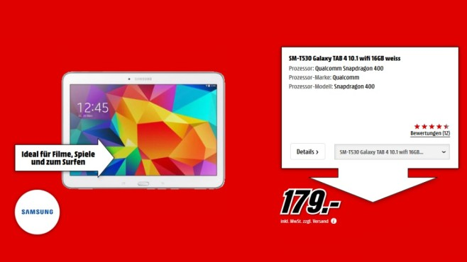 Samsung Galaxy Tab 4 (10.1) 16GB WiFi © Media Markt