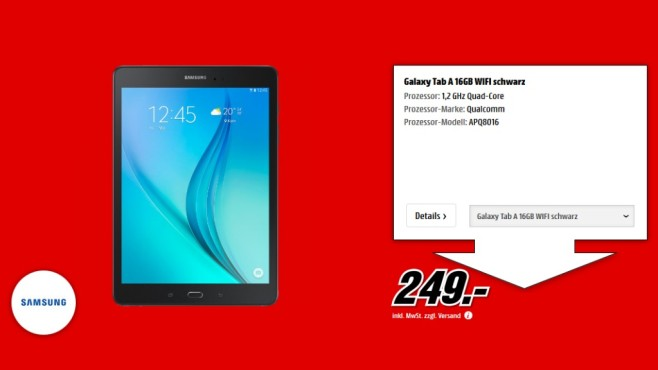 Samsung Galaxy Tab A 16GB WiFi © Media Markt