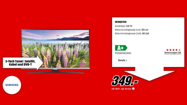 Samsung UE40J5150 ©Media Markt