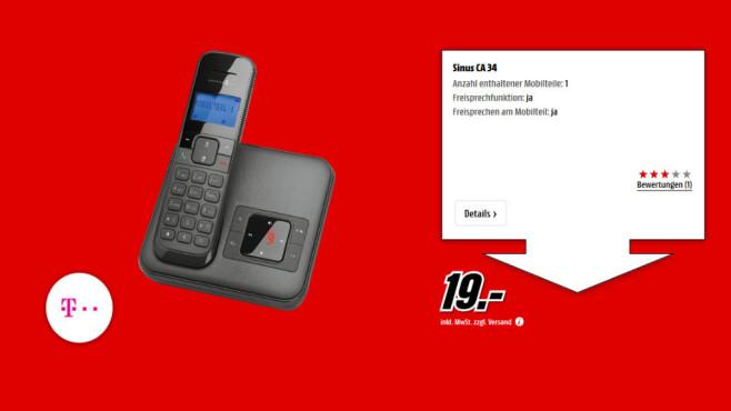 Telekom Sinus CA34 Single schwarz ©Media Markt