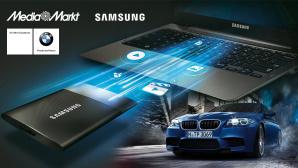 Leser-Live-Test Samsung SSD T1 ©Samsung, BMW, Media Markt