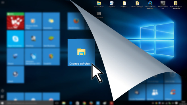Windows 10: Fehlende Desktop-Kachel nachrüsten Vom Vollbild-Startmenü zum Desktop zu wechseln, ist normalerweise nicht komfortabel. Bessern Sie nach! ©COMPUTER BILD