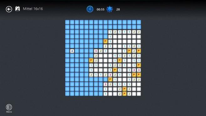 Microsoft Minesweeper (App für Windows 8 & 10): Spiel mit Sprengsatz ©COMPUTER BILD
