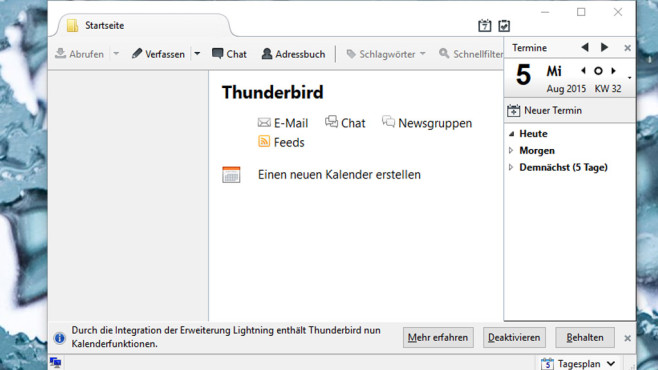 senden button thunderbird