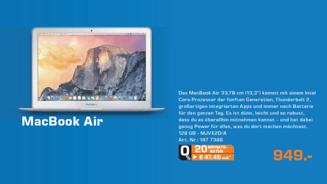 "Apple MacBook Air 13"" 2015 © Saturn"