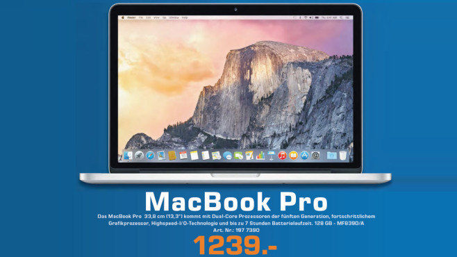 "Apple MacBook Pro 13"" Retina 2015 © Saturn"