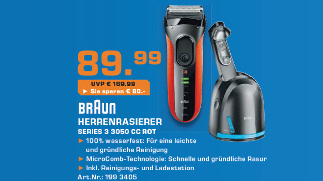 Braun 3050cc Series 3 red © Saturn