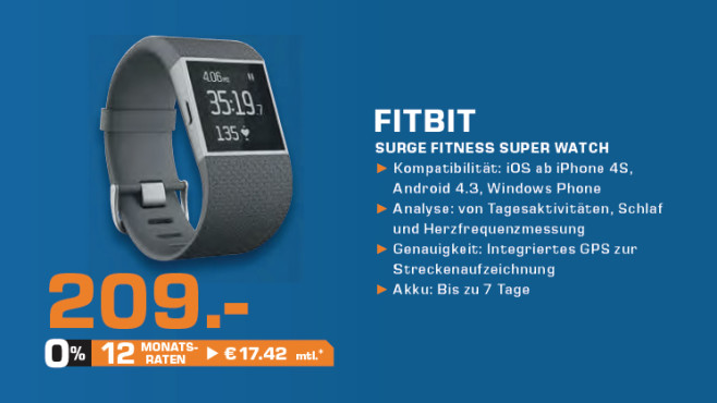 Fitbit Surge ©Saturn