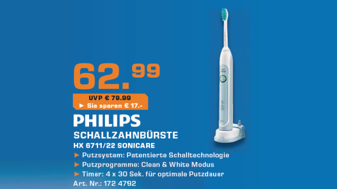 Philips Sonicare HX6711/22 © Saturn