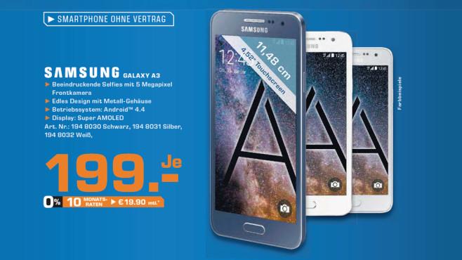 Samsung Galaxy A3 ©Saturn