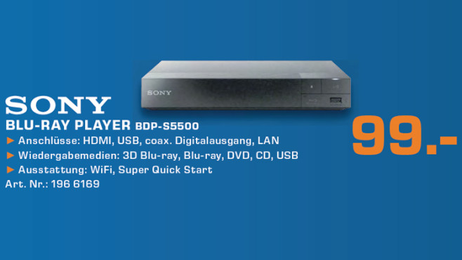 Sony BDP-S5500 ©Saturn