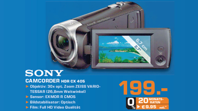Sony HDR-CX405 ©Saturn