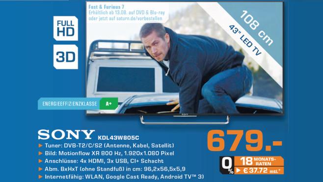 Sony KDL-43W805C ©Saturn