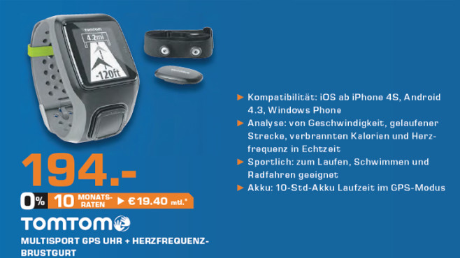 TomTom Multi-Sport + Brustgurt © Saturn