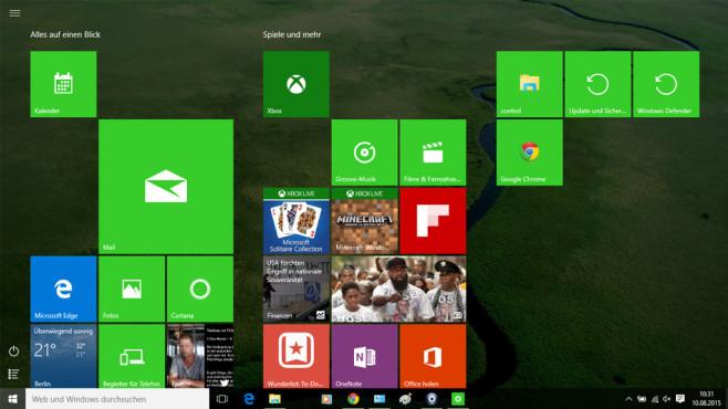 Für Windows-8-Fans: Vollbild-Modus einschalten ©COMPUTER BILD