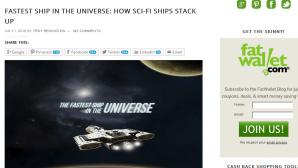 Das schnellste Raumschiff ©fatwallet.com