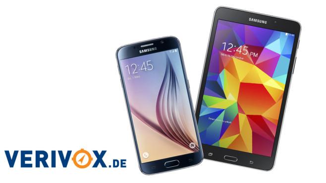 Samsung Galaxy S6 und Tab 4 für 1 Euro © Verivox, Samsung