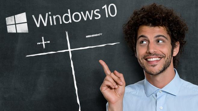 Windows 10: Tops und Flops ©Microsoft, Rido – Fotolia.com, Marco2811 – Fotolia.com