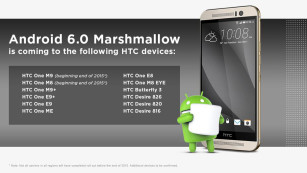 HTC – Android-6.0-Update © HTC via Twitter