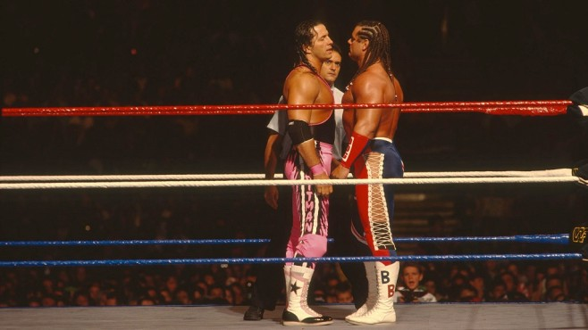 SummerSlam 1992: Bret Hart, Davey Boy Smith © WWE, Inc.
