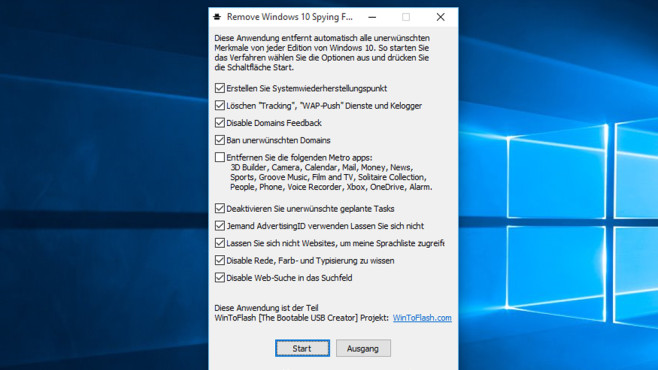Remove Spying Windows 10: Sensiblen Datenversand verhindern © COMPUTER BILD