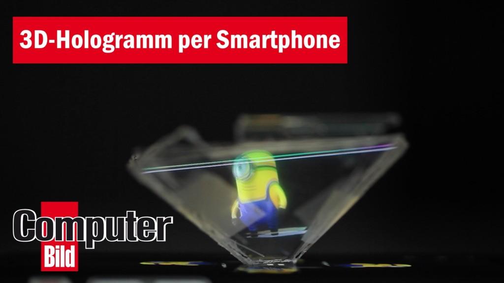 hologramm projektor selbst basteln computer bild. Black Bedroom Furniture Sets. Home Design Ideas
