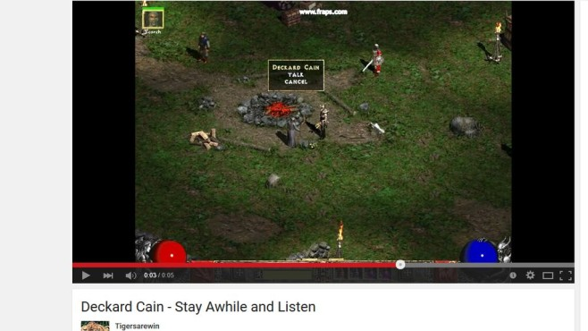 Diablo 2 © Blizzard / YouTube / Tigersarewin