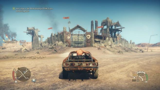 Mad Max: Öde in der Einöde In den Lagern finden Sie Schrott und Ressourcen – aber auch Gegner. ©Warner Bros. Ineractive