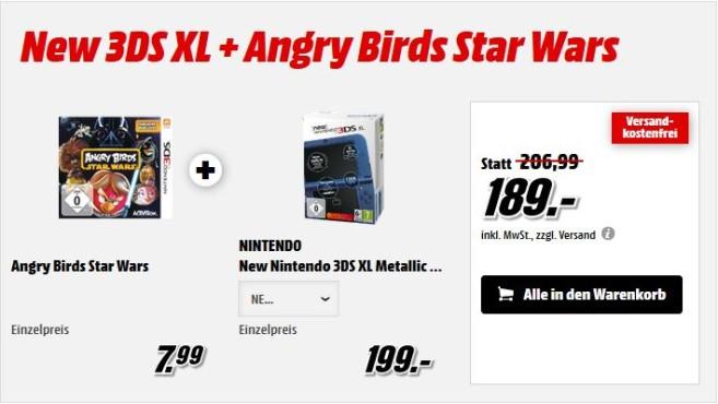 Nintendo New Nintendo 3DS XL + Angry Birds Star Wars ©Nintendo