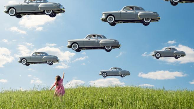 Fliegende Autos: So verändert Fotograf Logan Zillmer Landschaftsfotos ©Logan Zillmer