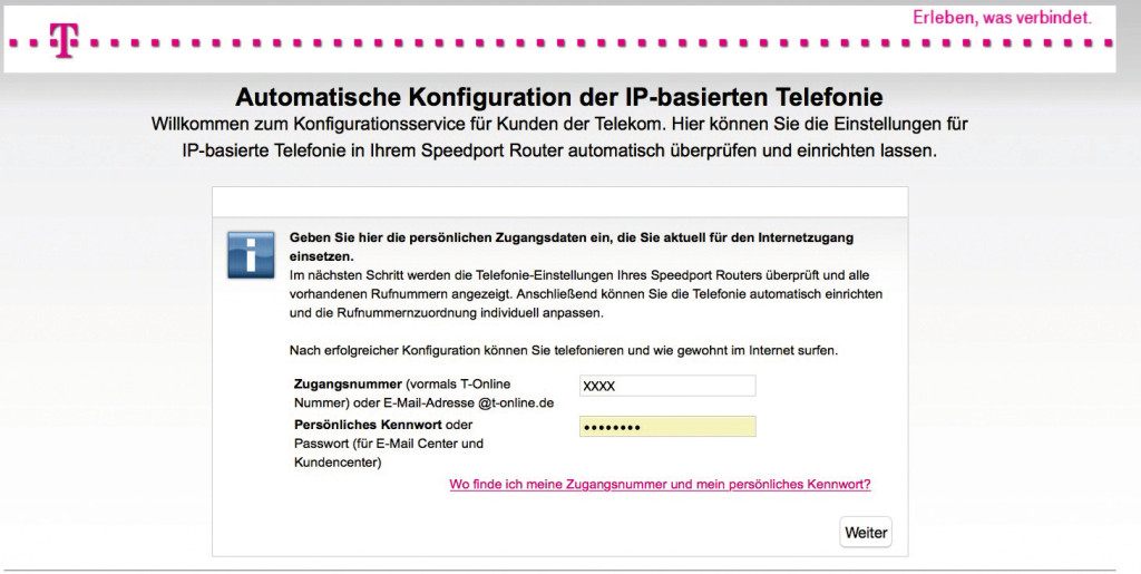 telekom speedport router anschluss einrichten bilder screenshots computer bild. Black Bedroom Furniture Sets. Home Design Ideas