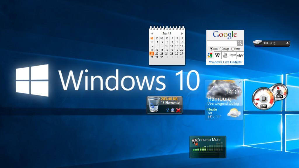 kalender auf desktop anzeigen windows 10