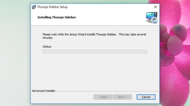 Thoosje Windows Sidebar 8 (1): Installieren ©COMPUTER BILD