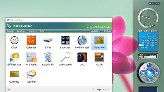 Thoosje Windows Sidebar 8 (3): In die Sidebar verfrachten ©COMPUTER BILD
