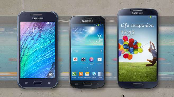 Samsung Galaxy J1, Galaxy S4 Mini, Galaxy S4 ©Samsung, COMPUTER BILD