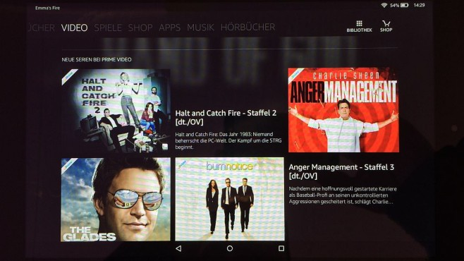 Amazon Fire-OS 5: Video © COMPUTER BILD