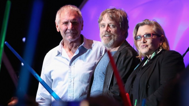 San Diego Comic-Con 2015: Harrison Ford, Mark Hamill, Carrie Fisher © Jesse Grant/Getty Images für Disney
