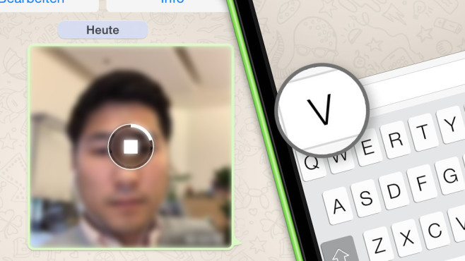 WhatsApp: So verschicken Sie Videos © COMPUTER BILD, WhatsApp