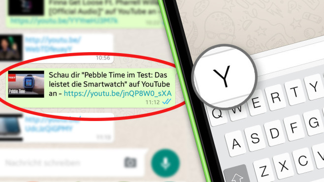 WhatsApp: So versenden Sie YouTube-Videos © COMPUTER BILD, WhatsApp
