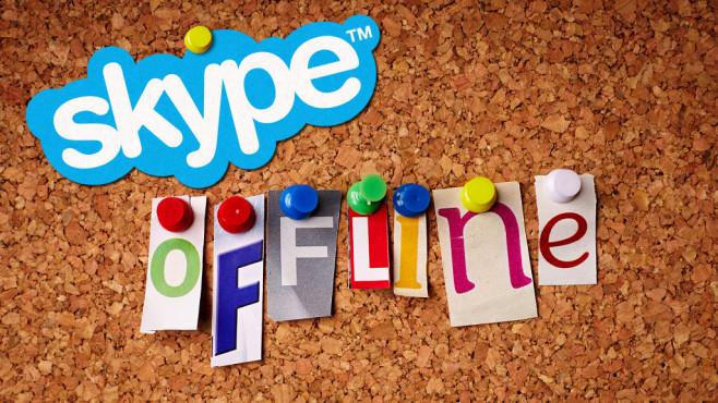 Skype Offline ©Skype, pixdeluxe – Fotolia.com