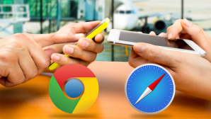 Chrome vs. Safari ©Cunaplus-Fotolia.com, Apple, Google Chrome