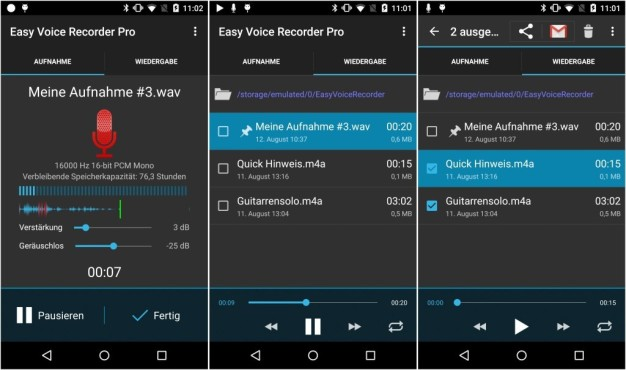 Easy Voice Recorder Pro © Digipom
