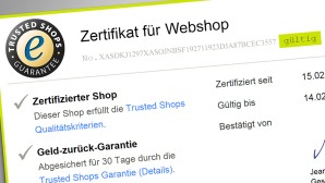 Screenshot Trusted Shops Zertifikat © Trusted Shops