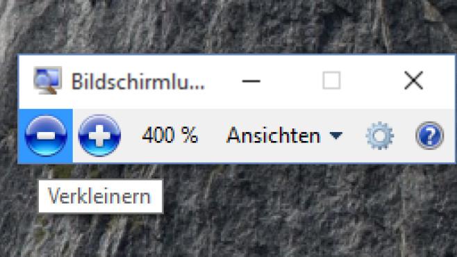 Windows + Minus: Monitorinhalt schrumpfen ©COMPUTER BILD