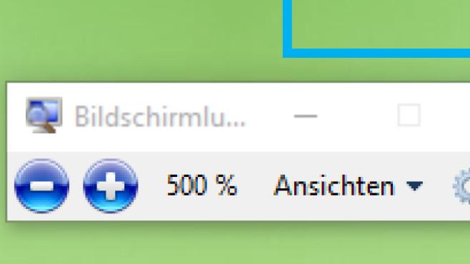 Windows + Plus: Bildschirminhalt vergrößern ©COMPUTER BILD