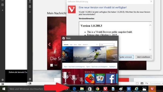 Windows + T: Taskleiste durchblättern ©COMPUTER BILD