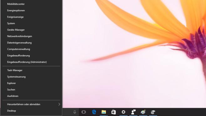 Windows + X: Profimenü aufrufen ©COMPUTER BILD